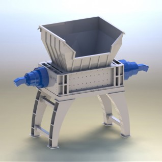 Universal Shredder Machine for Solid Metal, Plastic, Rubber and Wood Solid Waste Recycling