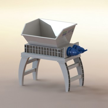 Double Shaft Shredder Machine Municipal Solid Waste Recycling