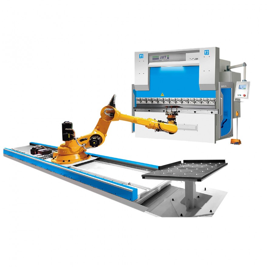 CNC Electro Hydraulic Press Brake With Robot feeder 100T3200